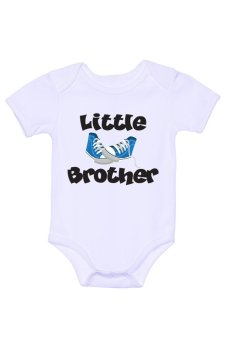 LMC Little Brother Blue Shoes Onesie (White)