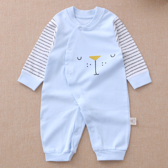Long-sleeved men spring and autumn thin romper cotton coveralls
