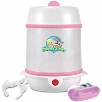 Looney Tunes Fast and Handy Bottle Steam Sterilizer (Pink) w/ FREE Tender Luv Babies Bang On The Door Soap Case