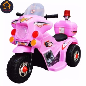 LOVE&HOME Rechargeable Motor Bike Kids Ride-on Toys Police Motorcycle (Pink)