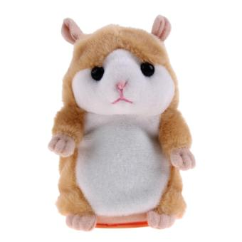 Lovely Talking Hamster Plush Toys Speak Sound Record Toy(Orange) -intl