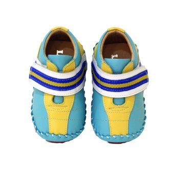 LS KIDS Baby Toddler Shoes (Yellow/Blue)