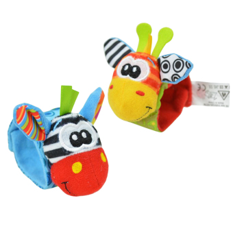 LT365 One Pair Lovely Infant Baby Kids Animal Hand Wrist BellsRattles Soft Toys Price Philippines