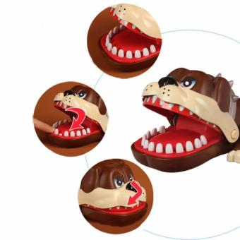Lucky Dog Bulldog Mouth Dentist Bite Finger Game Funny Toy Gift(Brown) - 4