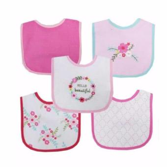 Luvable Friends 5 Piece Drooler Bib Floral