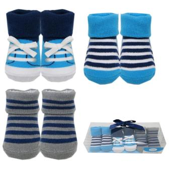 Luvable Friends Boys Socks Gift Set 3 Pieces for 0-9 Months Old