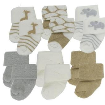 Luvable Friends Newborn Baby Socks 6-Pack 20622