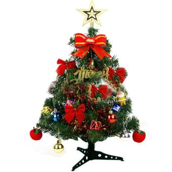 Luxury 60cm Height Green Artificial Christmas Tree Gift Ornament For Home - intl