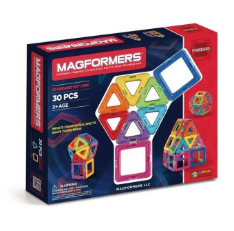 Magformers Standard Set (30-pieces) Magnetic Stick N Stack