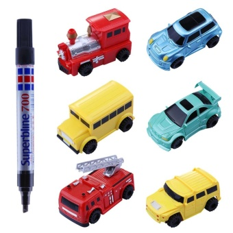 Magic Mini Pen Inductive Toy Vehicles Car Model Follow Any Draw lines Toys For Children Gift - intl - 3