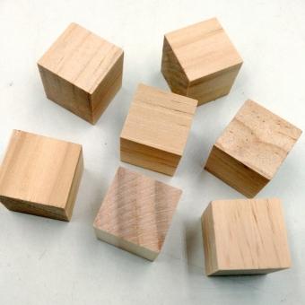 MagiDeal 20Pcs Natural Wooden Squre Cubes Embellishment for Craft 20mm - intl - 2