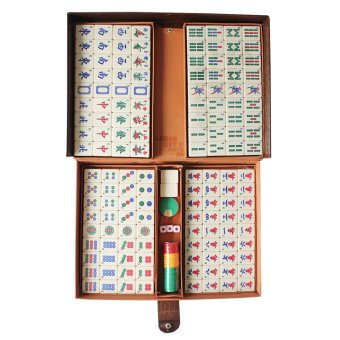 Mahjong Set 144 Cream Tiles Complete in Briefcase
