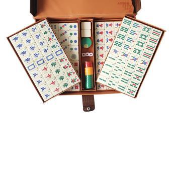 Mahjong Set 144 Cream Tiles Complete in Briefcase - 2