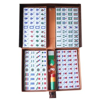 Mahjong Set 144 White Tiles Complete in Briefcase
