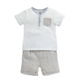 Mamas and Papas Sand Striped T-shirt and Shorts Set