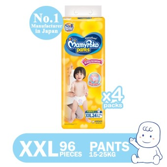 MamyPoko Easy to Wear Pants Diaper XXL 24's Pack of 4