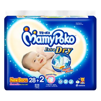 MamyPoko Extra Dry Diaper Newborn, Pack of 28+2 - picture 1
