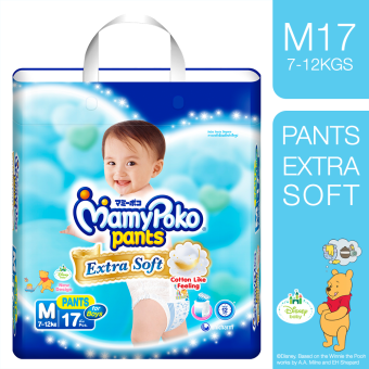 MamyPoko Extra Soft Diaper Pants (Boy) Medium 17's
