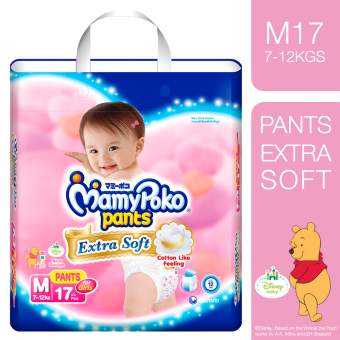 MamyPoko Extra Soft Diaper Pants (Girl) Medium 17's
