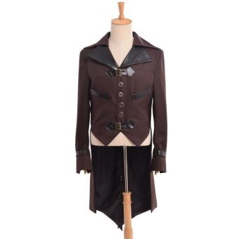 Men Victorian Steampunk Gothic Aviator Cosplay JacketSwallow-tailed Coat (Size-Medium)(Brown) - intl Price Philippines
