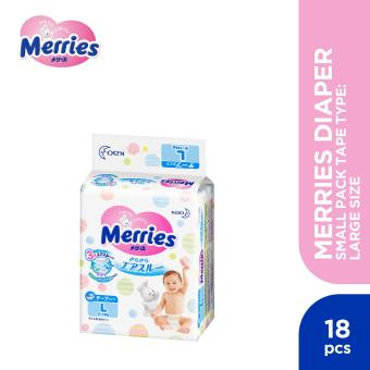 Merries Diaper Small Pack Tape Type Large (18 pcs)