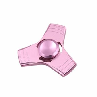 Metal Tri Fidget Hand Spinner Triangle Finger Toy EDC (Rose Gold)