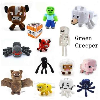 Minecraft Dolls Bat Zombie Cow Squider Ocelot Enderman SheepSkeleton Wolf Ghast Minecraft Tnt plush Education toys for baby -intl