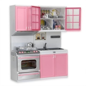 Mini Children's Kitchen Pretend Play Cooking Set Cabinetstove Toy -intl - 2