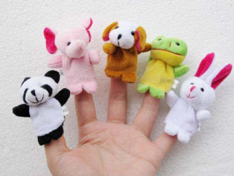 Mini hand puppet toys finger doll small animal