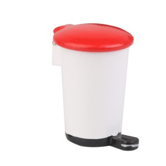 Miniature Step On Trash Garbage Can Handicrafts Model Decor - picture 2