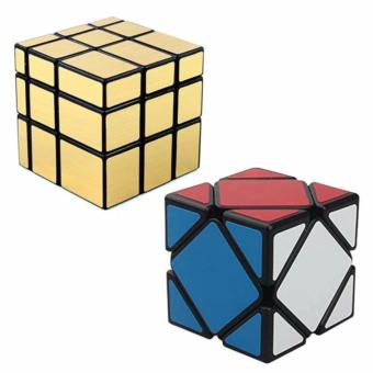 Mirror Gold with Skewb Rubik's Cube