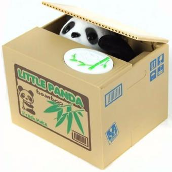 Mischief Saving Box Little Panda Saving Box Toy Funny Saving Box Animals Panda Automatic Electric Stole Coin Piggy Bank As Gift - intl