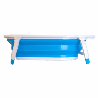 MMC Baby Folding Bath Tub Blue - 3