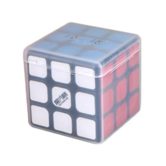 MoFangGe Thunderclap 3x3 Speed Cube Smooth Magic Cube Puzzle 56mm with Storage Cube Box Black - intl