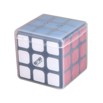 MoFangGe Thunderclap 3x3 Speed Cube Smooth Magic Cube Puzzle 56mmwith Storage Cube Box (Black) - intl
