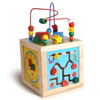 Montessori Bead Maze + Clock + Shapes + Beads Maze WoodenEducational Toys