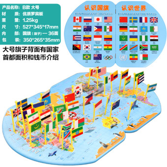 Montessori's plug flag Flag card Map