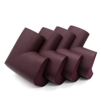 Moonar 4Pcs Table Desk Corner Edge Guard Cushion Baby Safety Bumper Protector (Brown)