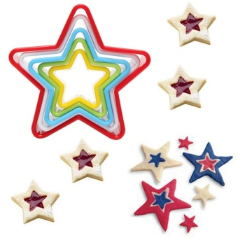 Moonar Christmas Tree Heart Star Frill Flower Shape Cookie Cutter Cake Baking Mold (Star) - intl Price Philippines