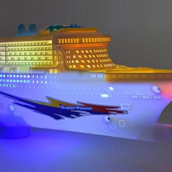 Moonar Ocean Liner Cruise Boat Electric Toy Flashing LED Light - intl - 2
