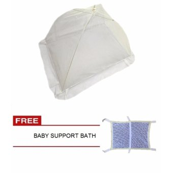 Mosquito Net Lace White with Baby Support Bath
