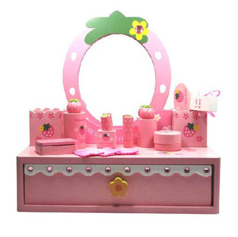 Mother garden children's model toys wooden dressing table