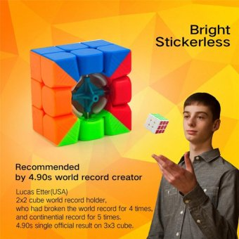 MoYu Cubing Classroom MoFangJiaoShi MF3RS 3x3 Speed Magic Cube Puzzle Brain Teasers, Bright Stickerless - intl - 2
