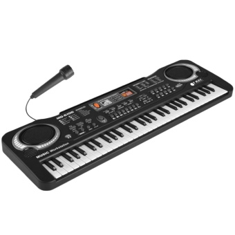Multi-function 61 Keys Kids Electronic Organ Keyboard Piano Child Musical Teaching Toy with Microphone And EU Power Cord - intl