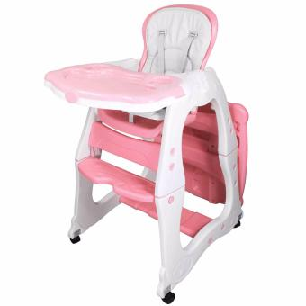 Multi-functional Adjustable 3 in 1 Baby High Chair Recliner FeedingTray HC-523 (Pink)