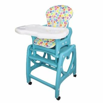 Multi-functional Adjustable 3 in 1 Baby High Chair Recliner FeedingTray SQ-AX01 (Blue)
