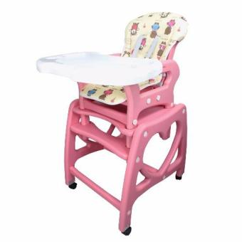 Multi-functional Adjustable 3 in 1 Baby High Chair Recliner FeedingTray SQ-AX01 (Pink)