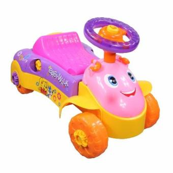 Multi-functional Educational 3 in 1 My First Push and Ride BabyWalker Ride On Car Toy (Purple/Pink)