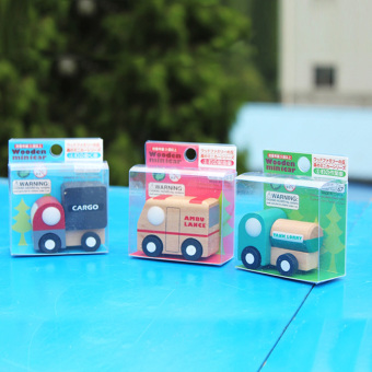 Multi-pattern Creative Toys Mini Wooden Car Model Baby KidEducational Gift - 2
