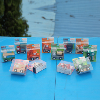 Multi-pattern Creative Toys Mini Wooden Car Model Baby KidEducational Gift - 4
